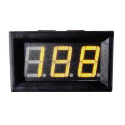 Mini 0-100v Dc Voltmeter Yellow Led Display Panel Digital Display Volt Voltage