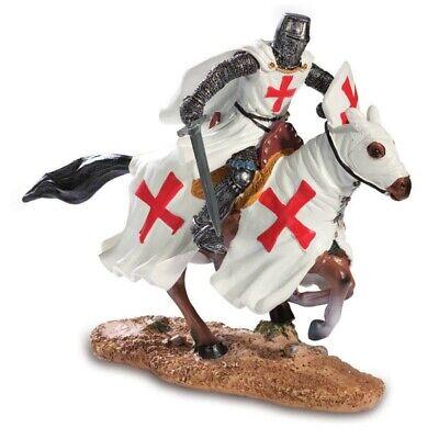 Kreuzritter mit Schwert auf Pferd Templer