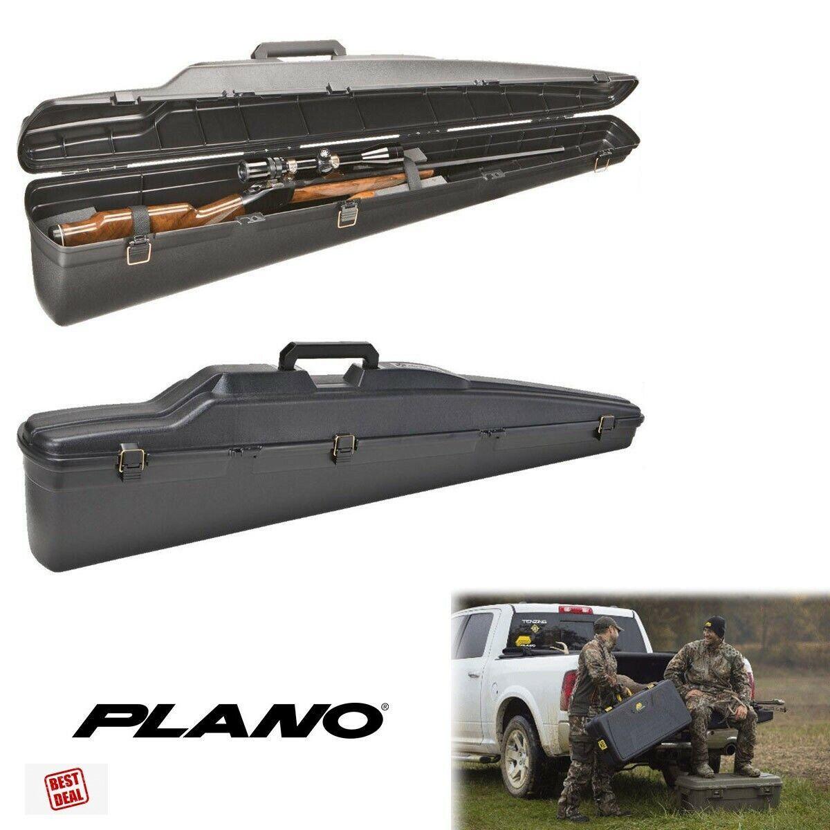 Plano vertical single scoped rifle hard case