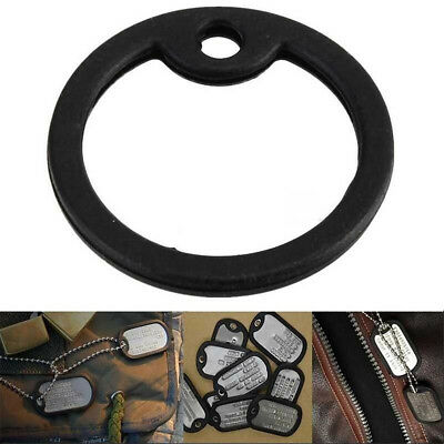 3Pcs Rubber Military Dog Pet Tag Noise Silencer Bumper Fastener Ring Black