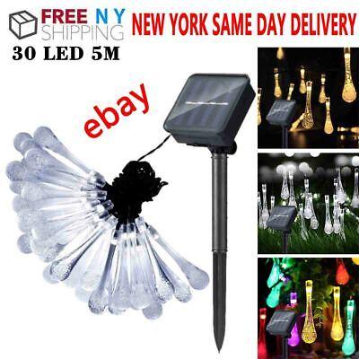 Outdoor String Lights Patio Party Yard Garden Wedding 30 LED Bulb Solar Powered Garden Party Lights