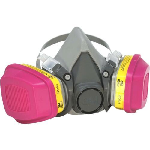 3M 6200 & 1 Pair 60923 P1OO/OV/AG Cartridge Pro Multi-Purpose Respirator MEDIUM