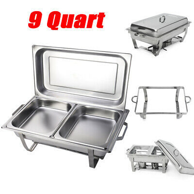1pack Chafing Dish Sets Buffet Catering Stainless Steel W Tray Folding Chafer