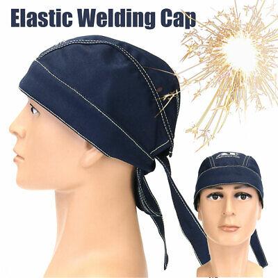 Welding Welder Protective Hat Cap Scarf Helmet Welders Flame Retardant Mazarine