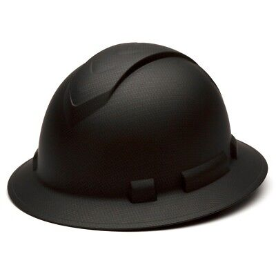 Pyramex Hp54117 Ridgeline Graphite Full Brim Black Hard Hat W4 Pt Ratchet Susp