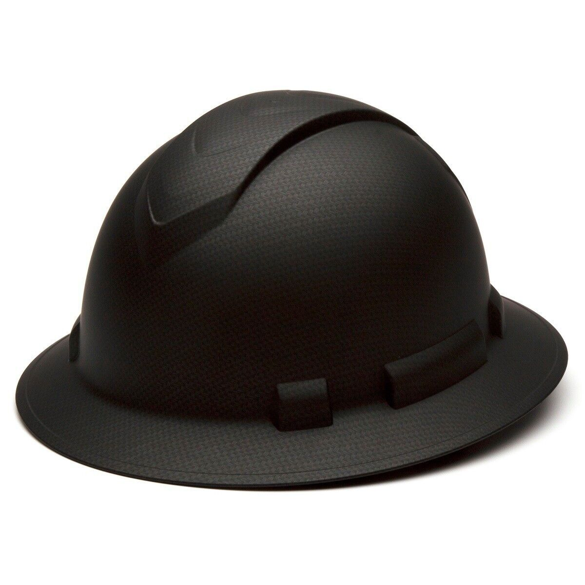Pyramex HP54117 Ridgeline Graphite FULL BRIM Black Hard Hat W/4 Pt Ratchet Susp Business & Industrial