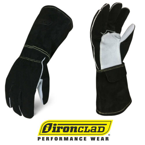 IronClad MIG Welder Premium Buffalo Cowhide Leather Welding Gloves - Select Size