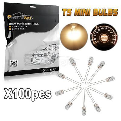 100) MINI BULBS AMBER LAMP FOR GM SPEEOMETER CLUSTER BACKLIGHT LIGHT 12-14v -