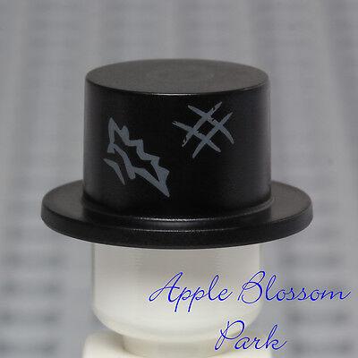 NEW Lego Minifig BLACK TOP HAT - Mr Good Evil Zombie Jekyll Hyde Groom Head Gear