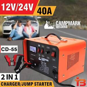 New 12V/24V 40A Campmark 2 in 1 Car Battery Charger Fairfield Fairfield Area Preview