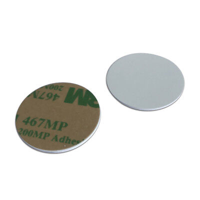 Rfid Round Coin Card Mifare Classic 1k With 3m Adhesive Back 13.56mhz-10pcs