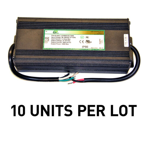 [LOT OF 10] NEW EPtronics 100W LED Drivers Constant Current 1050mA UL Recognized