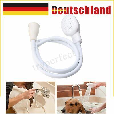 Dog Haustier Duschkopf Brausekopf Spray Schlauch Duschbrause Waschbecken Haar ()