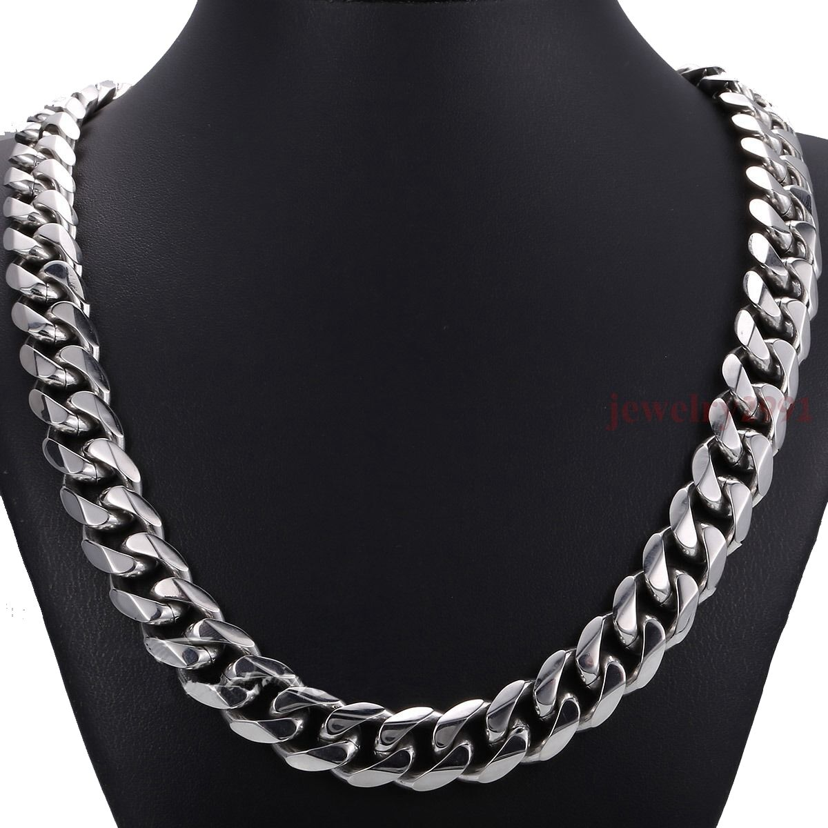 """36/""""Stainless Steel HEAVY WIDE 10x4mm Silver Cuban Curb Link Chain Necklace*N116"""