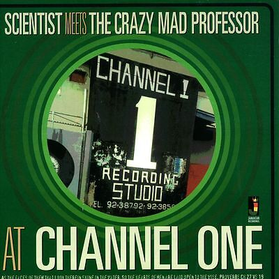SCIENTIST Meets THE CRAZY MAD PROFESSOR  AT CHANNEL ONE NEW VINYL LP £10.99