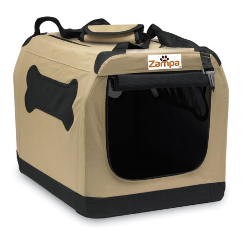 Zampa Pet Portable Crate Great for Travel Home and Outdoor