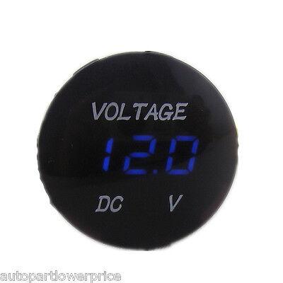 Mini 12V Blue LED Digital Display Car SUV Panel Volt meter Voltage Gauge Meter