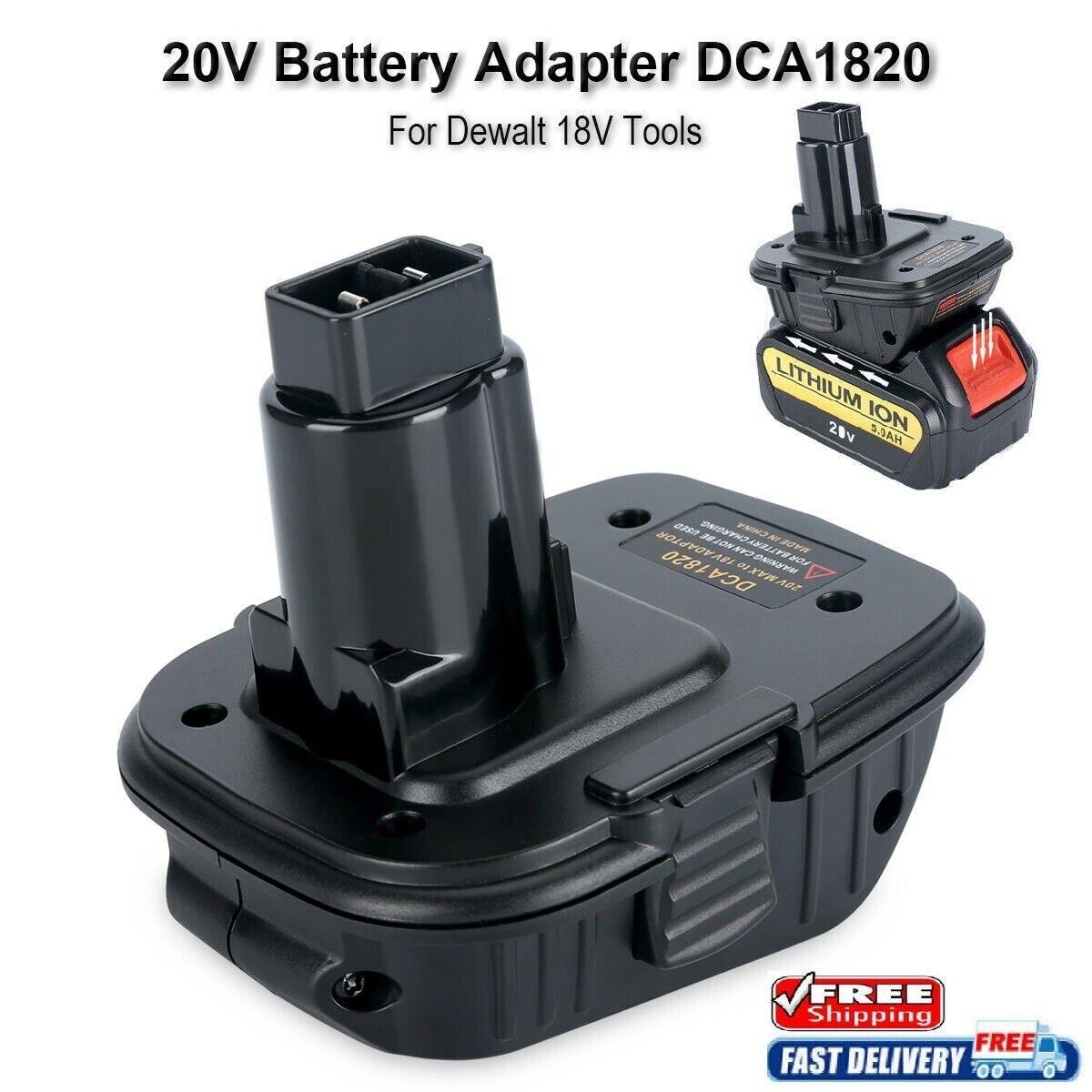 New DCA1820 Battery Adapter for Dewalt 18V Tools, to Convert