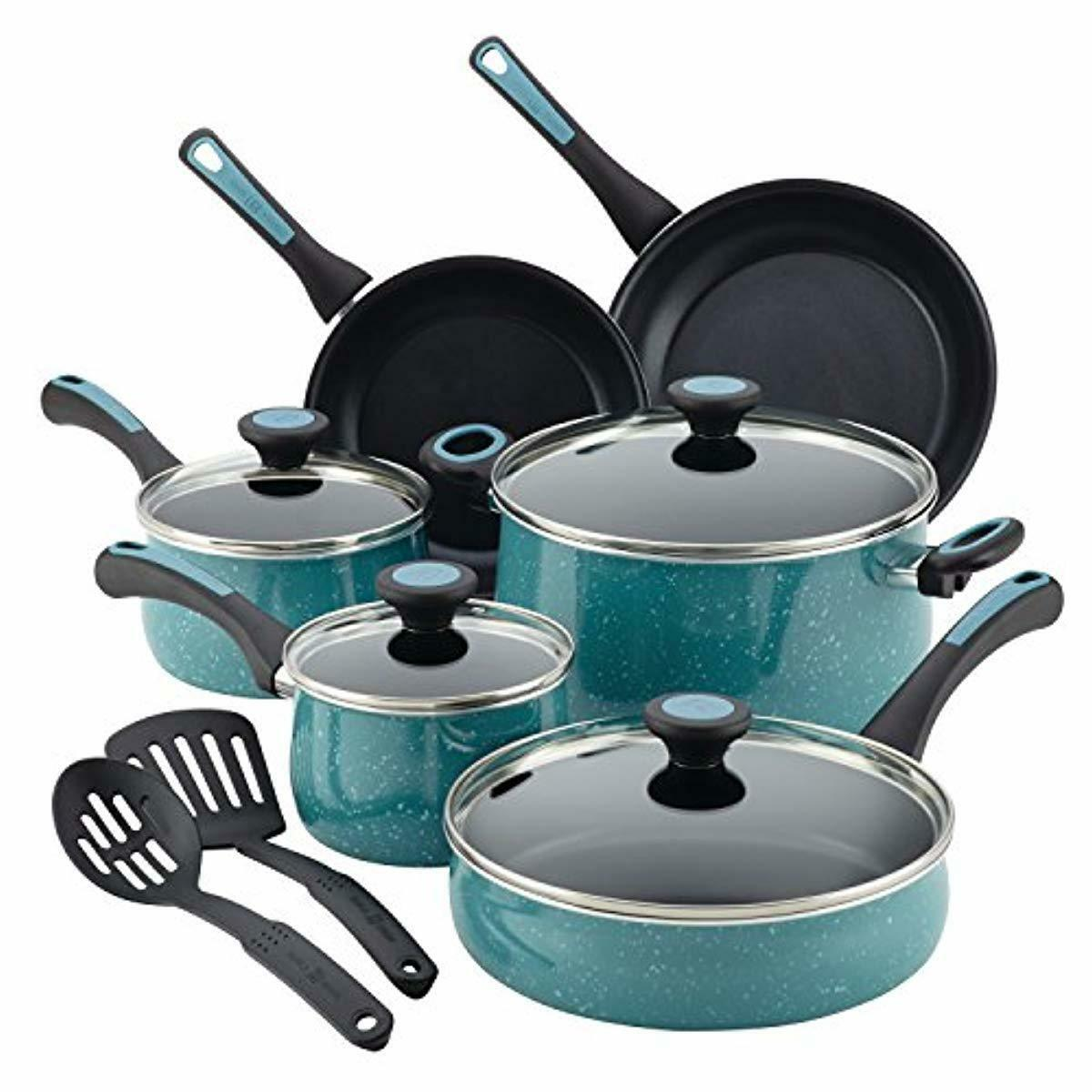 Paula Deen Riverbend Aluminum Nonstick Cookware Set 12-Piece