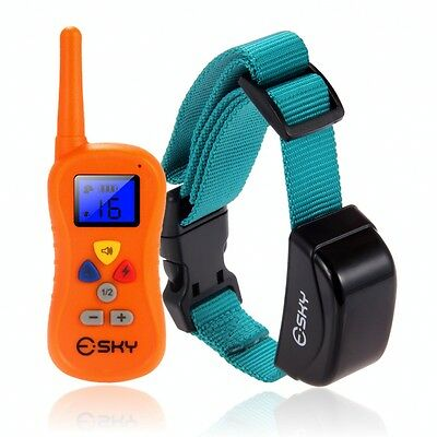 Waterproof 1000 Yard  Dog Shock Training Collar with Remote 4 level