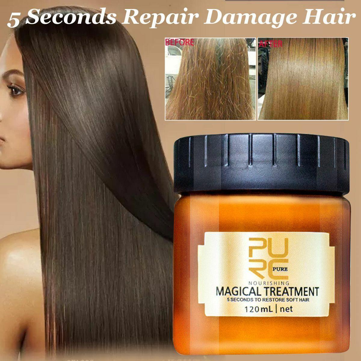 PURC Magical Treatment Mask 5 Seconds Repairs Damage Restore Soft Hair 60 120mL