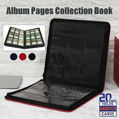 480 Cards Album Folder Book List Collectors DIY Holder for Pokemon Gaming Card