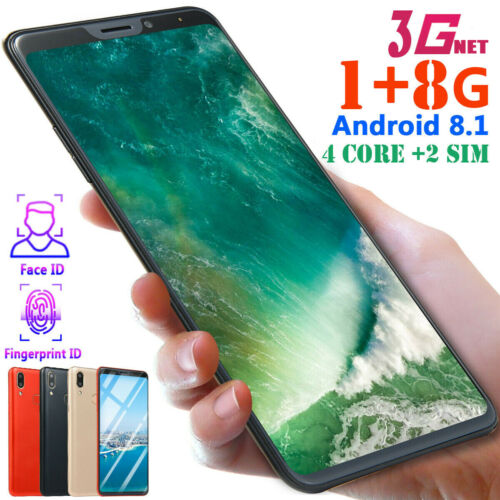 "Android Phone - 6.1"" Android 8.1 Mobile Phone HD 1G+8GB 4 Core 2 SIM Face ID Unlocked Smartphone"