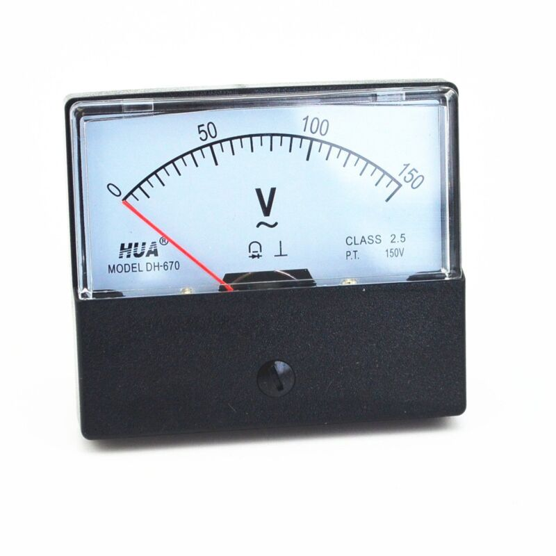 AC 0-150V Analog Panel Meter voltmeter Gauge DH-670