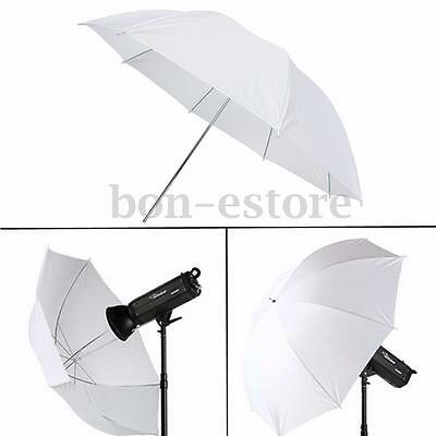 43'' Photography Video Studio Diffuser Translucent Flash Soft  Umbrella White for sale  Shipping to Nigeria