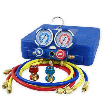 R134a R22 Ac Diagnostic Testing Charging Manifold Gauge Hvac Meter Kit Whoses