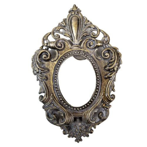 Vintage Ornate Small Bronze Brass Wall Frame Florentine Made in Italy NO GLASS