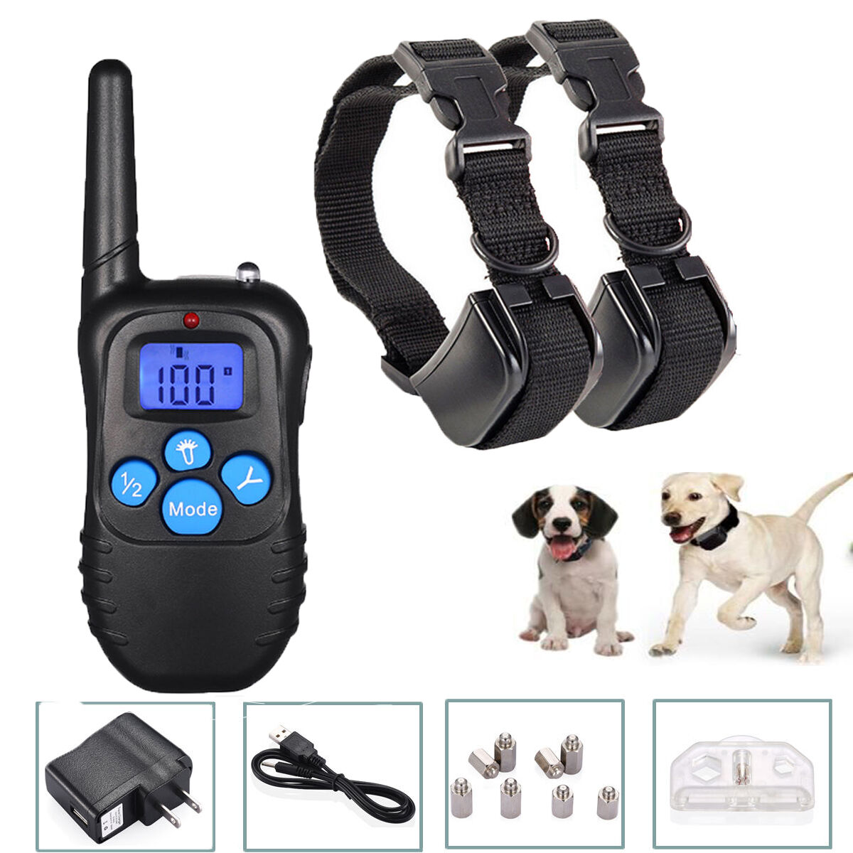Купить Housmile HS-LN-CX532BK - Electric Remote Dog Training Collar Rechargeable Shock Collar For 2 Dogs 330Yard