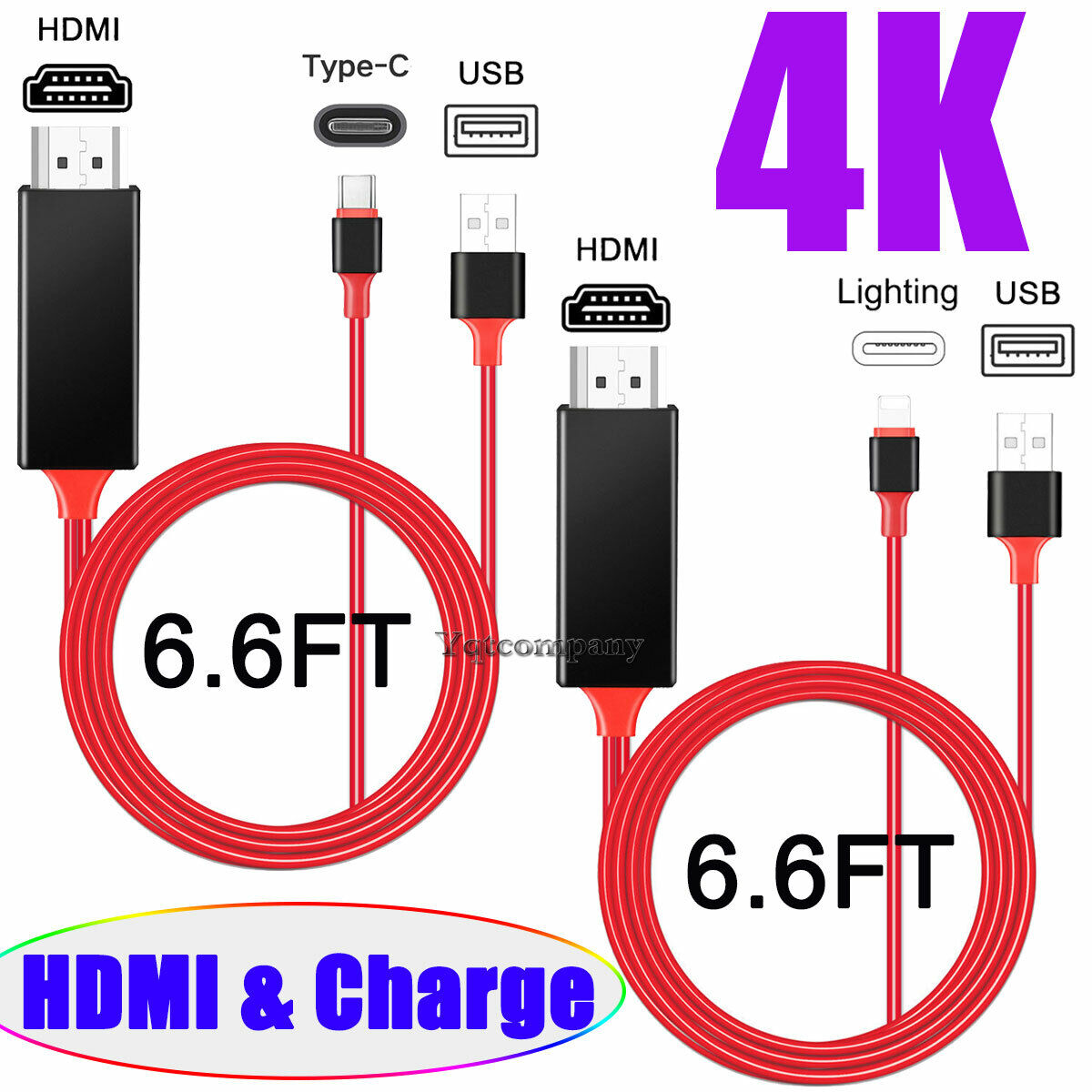 USB-C Type C Phone to 1080p HDMI HDTV AV TV Adapter Cable Co