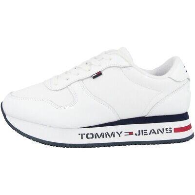 Jeans Flat Form Runner Sneaker Schuhe white EN0EN00778YBS (Weiße Flats Mädchen)
