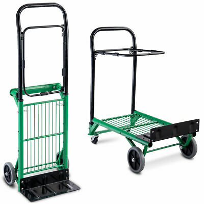 2-in-1 Convertible Platform Hand Truck Garden Dolly Cart Folding Heavy Duty New
