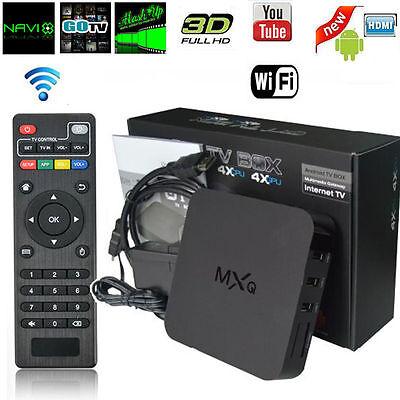MXQ Smart TV Box Streamer Android 4.4 Quad Core Media Player 1G+8G WIFI HD 1080P