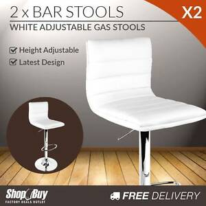 Free Delivery: 2 x PU Leather Backrest Kitchen Bar Stool Cafe Melbourne CBD Melbourne City Preview
