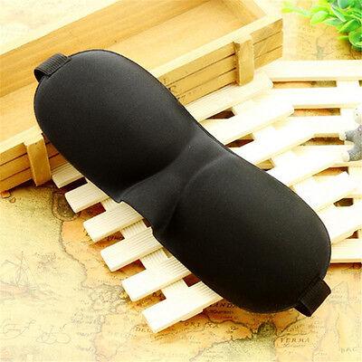 3D Hochwertige Augenmaske Schlafbrille Schlafmaske Augenbinde Schwarz für Reise