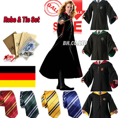 Harry Potter Kostüm Costume Umhang Cape Robe Clock Halloween Karneval Cosplay