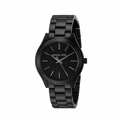 Michael Kors MK3587 Mini Slim Runway All Black Wrist Watch for (Michael Kors All Black)