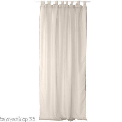 TAB TOP ORGANZA VOILE NET CURTAIN PANEL EXTRA LONG - 240cm 94 ...