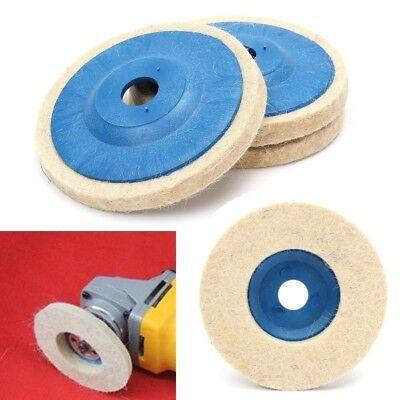 100% Wool Buffing Pad (3Pcs Wool Buffing Angle Grinder Wheel Felt Polishing Disc Pad Tool Set Kit)
