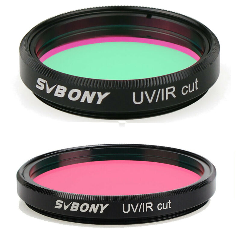 """SVBONY 1.25""""/ 2"""" UV/IR CUT Block Infra-Red Filter for DSLR/CCD Cameras Telescope"""