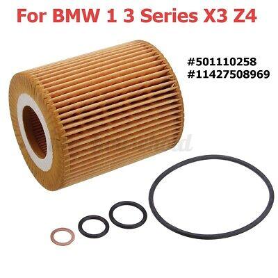 Ölfilter Motorölfilter + Dichtung Oil Filter 11427619319 Für BMW 1 3er X3