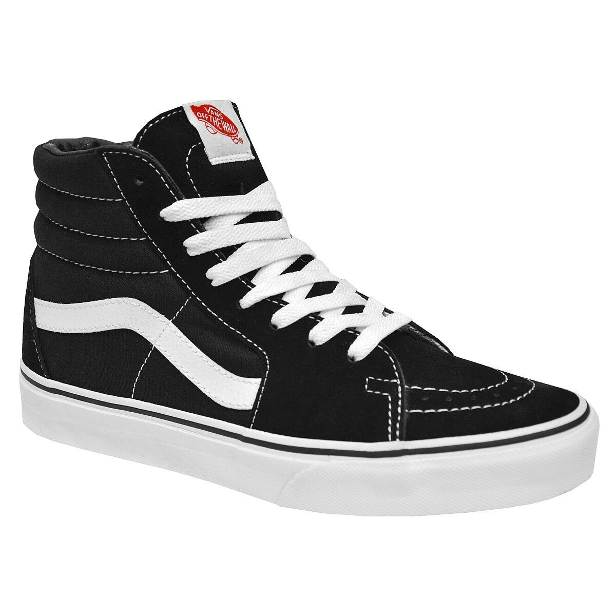 Vans Classic SK8 Hi Top Black White Fashion Mens Womens Shoes Size 4-13