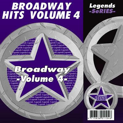 Broadway Legends Vol 4 Musical Karaoke CDG CDs Broadway Musicals  ()