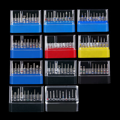 0.99 Size Dental Lab Diamond Burs Set Fg101-117 Fit High Speed Handpiece 10pcs