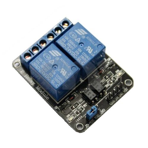 2-Channel 24V Relay Module With Optocoupler For Arduino DSP AVR PIC ARM  USA