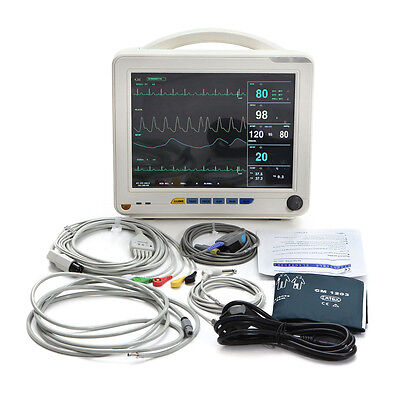 12.1 Patient Monitor Icu 6-parameter-vital Sign Spo2 Ecg Nibp Medical Hospital