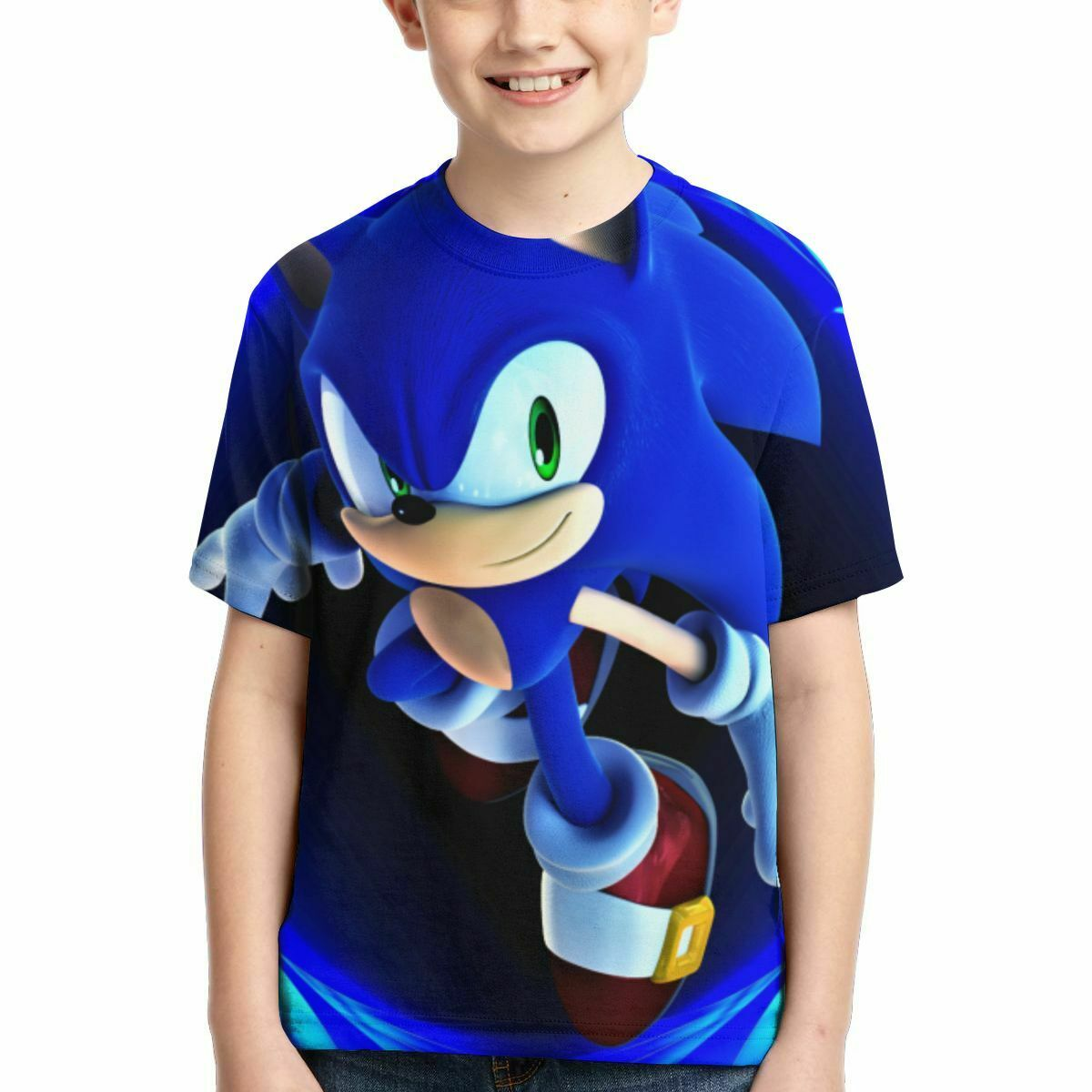 Boys summer short-sleeved T-shirt sonic the hedgehog cartoon children/'s top